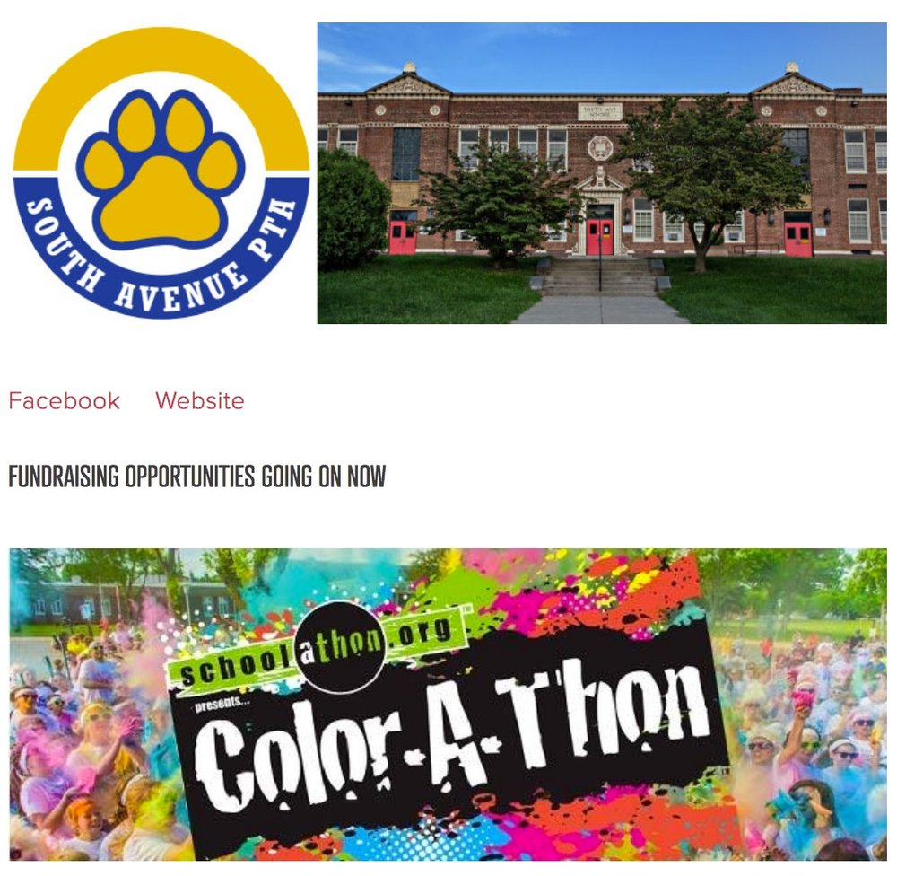 South Avenue Elementary's Color-A-Thon is the latest event added to A Little Beacon Blog's collection of fundraising efforts by public school PTO/As.
