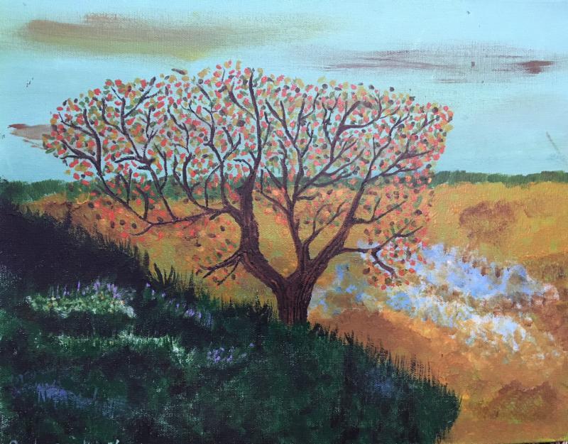 Sydney Kurtz's painting at howland library
