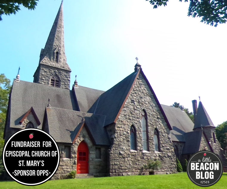 The Episcopal Church of St. Mary's in the Highlands in Cold Spring.  Photo Credit: Google Images. Graphic Design:  Katie James, Inc.