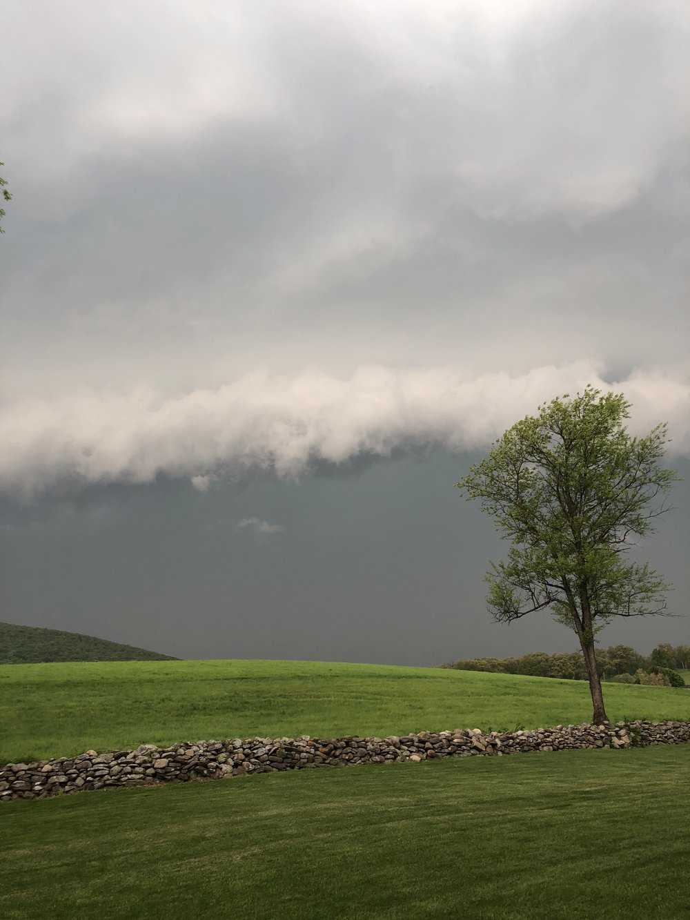 """This was the storm rolling in! Hudson Valley Weather called this photo a gust front!""  Photo Credit: Sheila Lassen, Mountainville, NY (Part of Cornwall)"