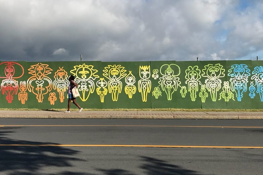 Beacon artists' mural on Route 9D