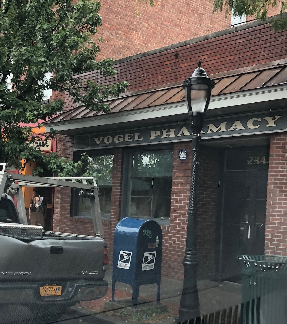 The former location of longtime Beacon business Vogel Pharmacy, on Main Street in Beacon, NY. Vogel has since moved 10 minutes away to the plaza across from Dutchess Stadium, 1475 NY-9D, now serving old and new customers.  Photo Credit: Katie Hellmuth Martin