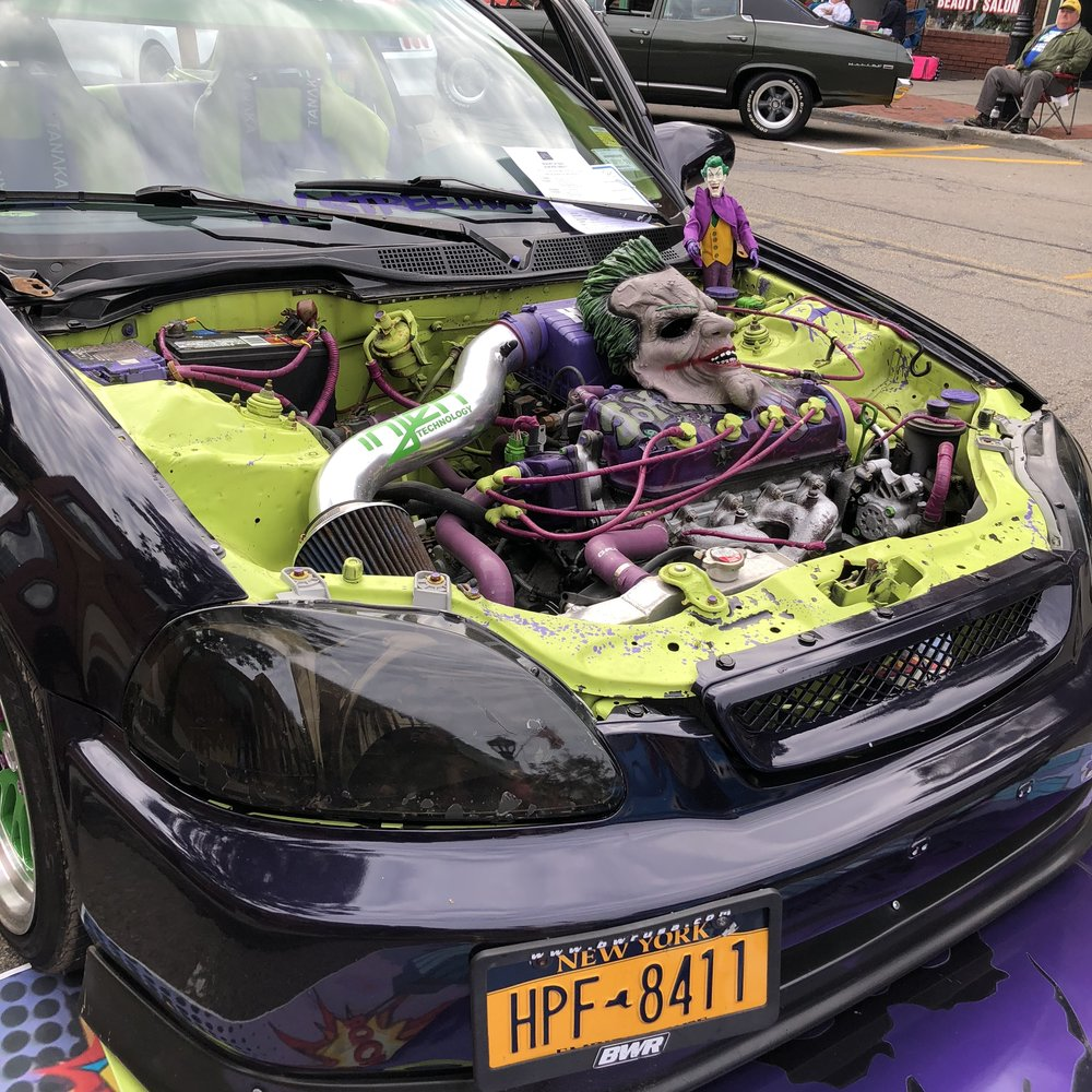 Hadn't seen this Joker car yet… Did you peek inside to see how he decorated the interior roof?