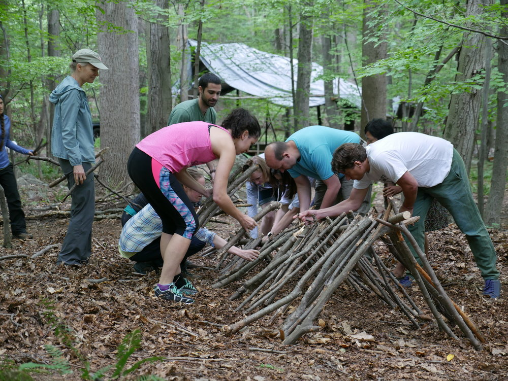 A survival training workshop on the Mountain Scout property in Hopewell JuncTion.  Photo Credit:    The Mountain Scout Instagram