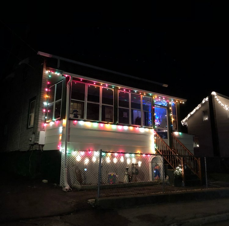 Always a good one. This house is near Dogwood and gives us a beach-house vibe each year when they light up with Christmas.