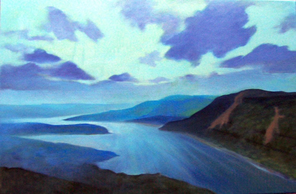 """Lavender Emanence,"" by Susan Miiller at Bannerman Island Gallery"