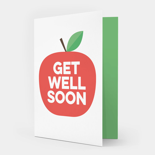 red apple get well soon card showler and showler