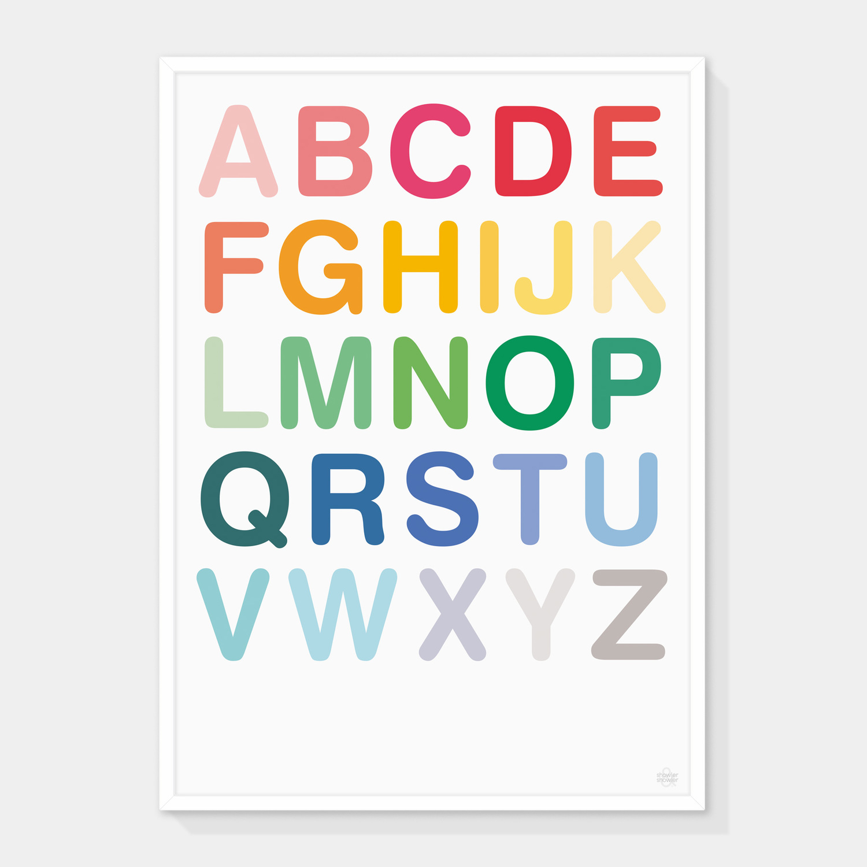 ABC Alphabet Type Art Print
