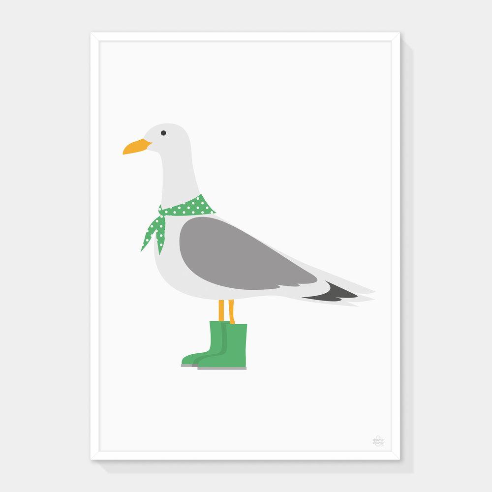 Seagull-GREEN-Framed.jpg