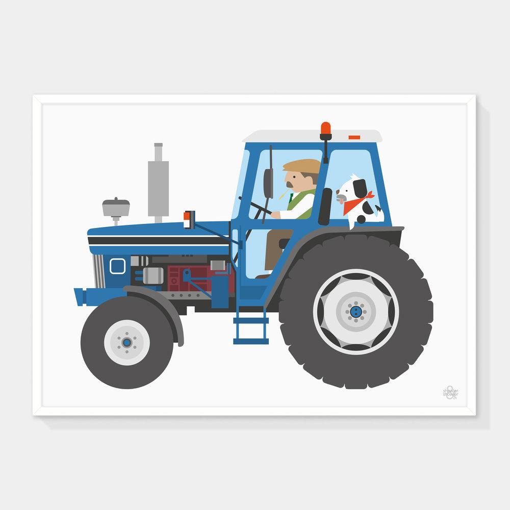 Tractor-BLUE-Framed.jpg