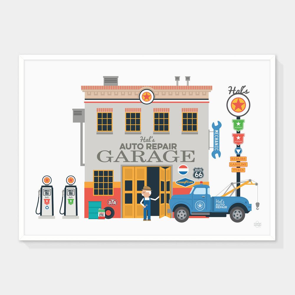 Hal's-Garage-Print-Framed.jpg