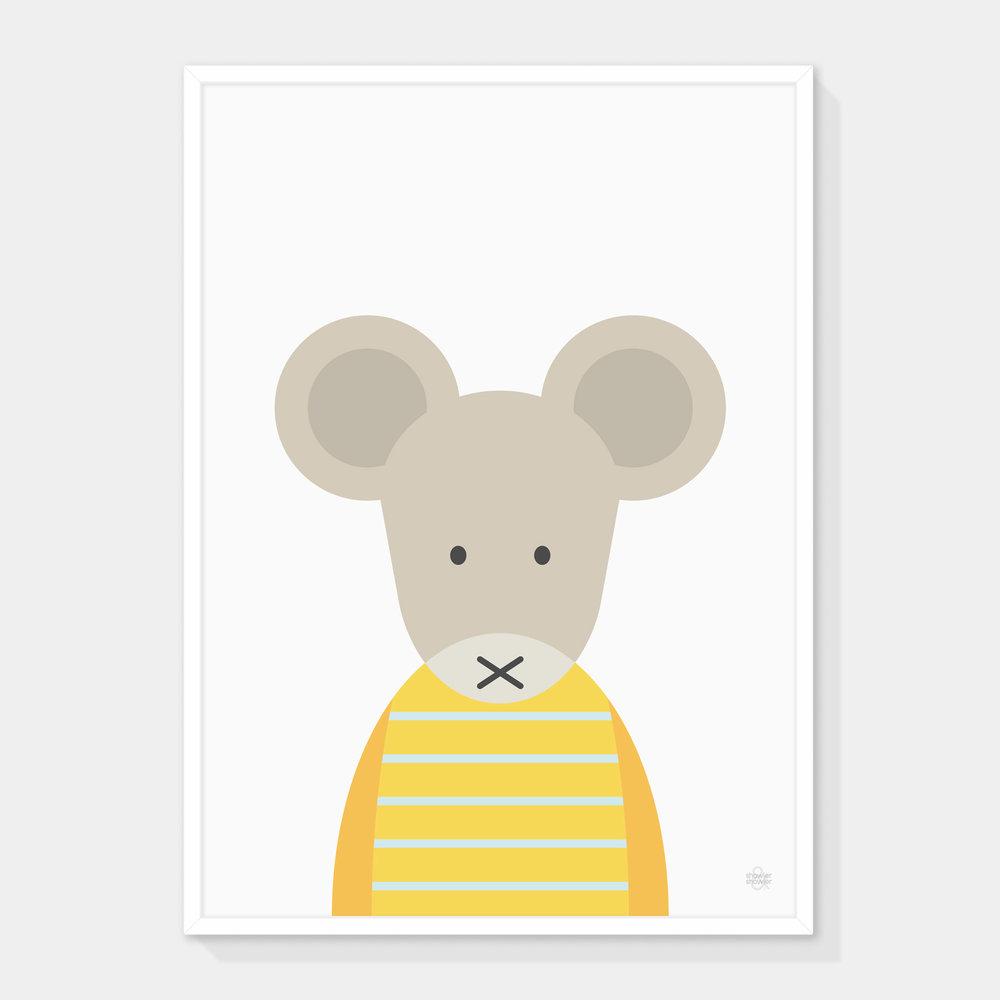 Yerllow-Striped-Mouse-Framed.jpg