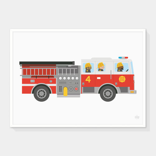 fire engine art print showler and showler