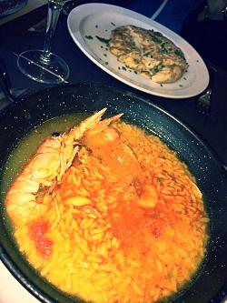 Paella and Tortilla in Venta El Buscon