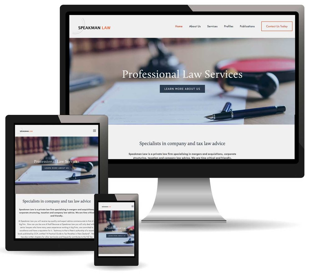 Speakman Law Responsive Website