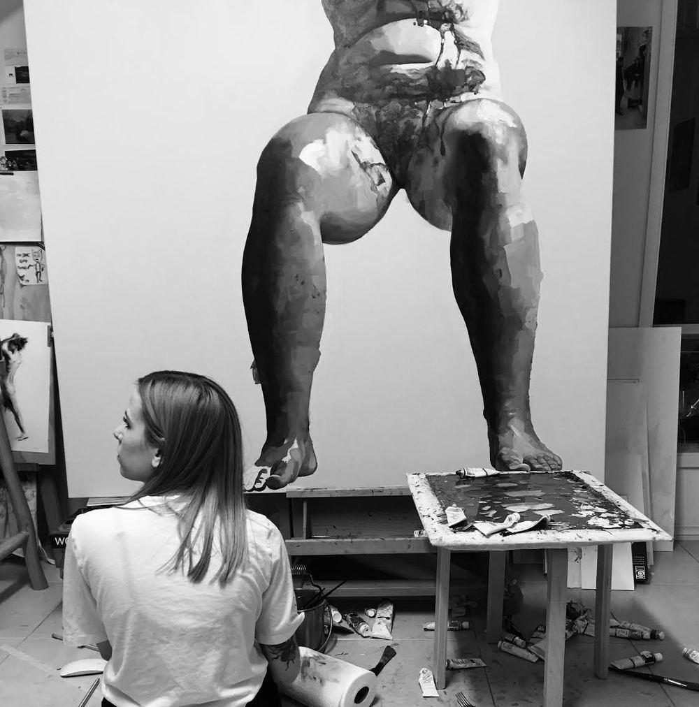 Ellie Kammer in her Adelaide studio. 2016.
