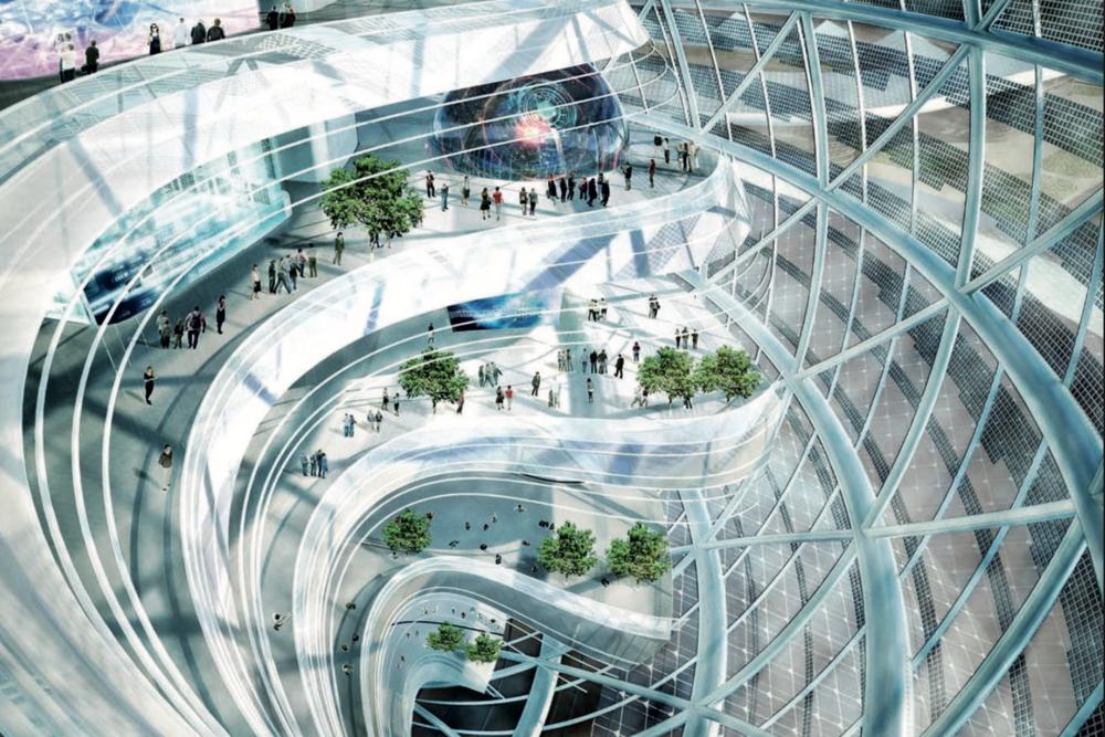 Astana Sphere pavilion ( internal view)