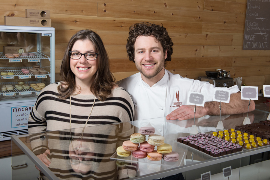 Nathalie Morin and Julien Rousseau, co-owners of Rousseau Chocolatier.