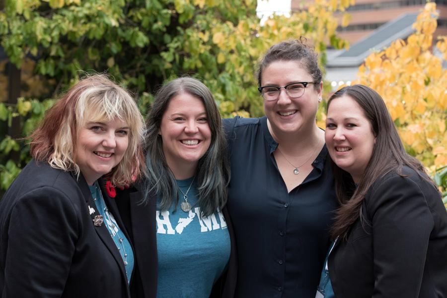 Renée Downs, Krista Montelpare, Michelle Doucette (me) and Kerra Aucoin Mansfield