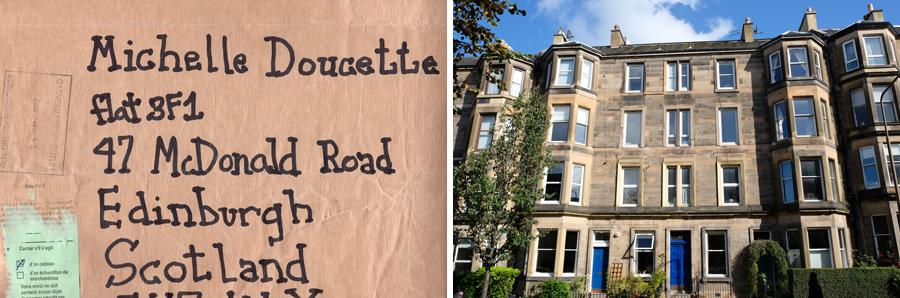Our flat on McDonald Road, off Leith Walk, Edinburgh.