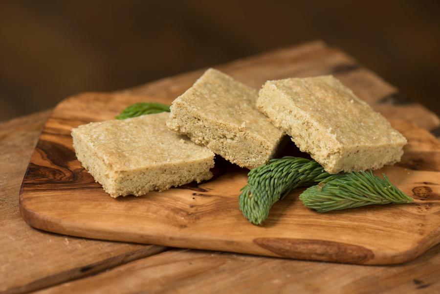 Spruce Shortbread for dessert.
