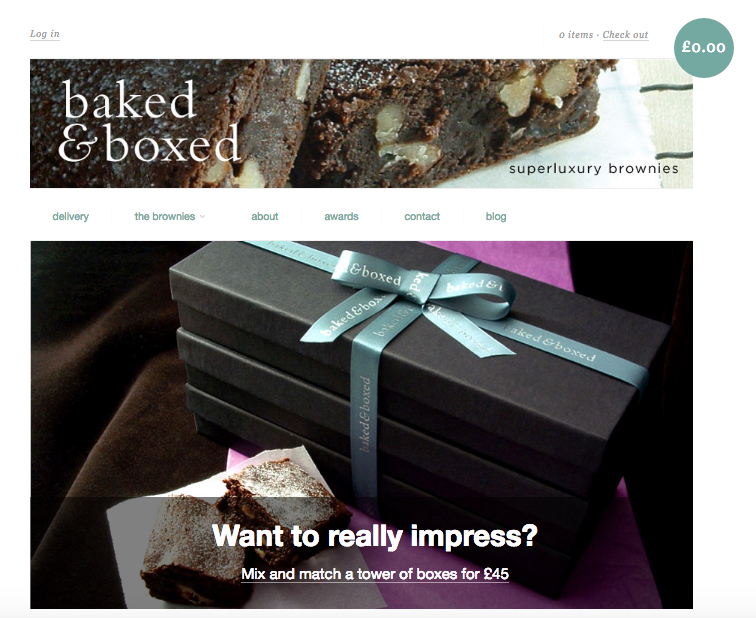 Brand and marketing consultancy | Annie Abbatt Consulting | Baked and Boxed Ecommerce Website