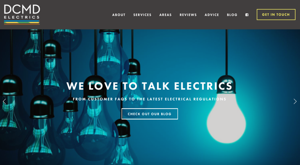 Marketing, Branding, Website Consultancy Annie Abbatt Consulting DCMD Electrics