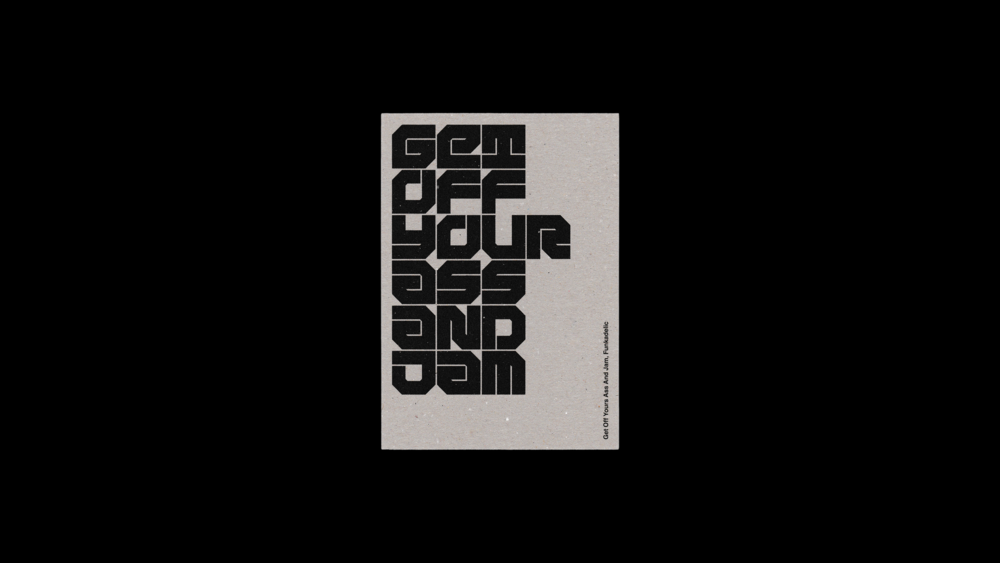 DesignPractice™ / JAM / Get Off Your Ass And Jam / Postcards / 2016