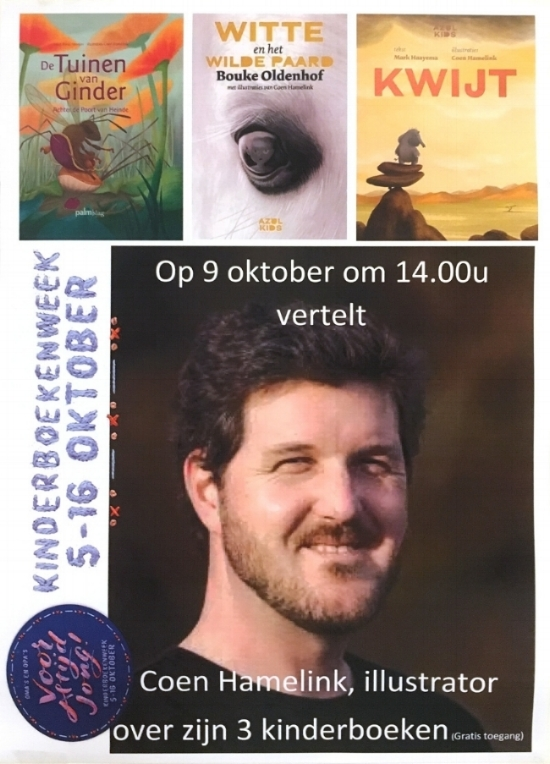 Kinderboek presentatie 9 oktober Boekhandel Laan Castricum | Kinderboekenweek