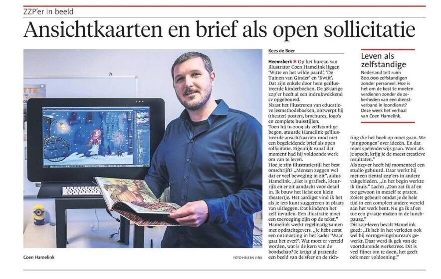Coen Hamelink | ZZP in beeld | Noord Hollands Dagblad |Kees de Boer | Foto Heleen Vink