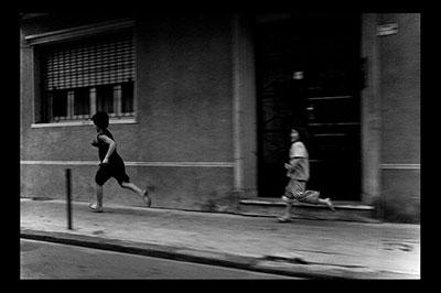 Kids running on the street