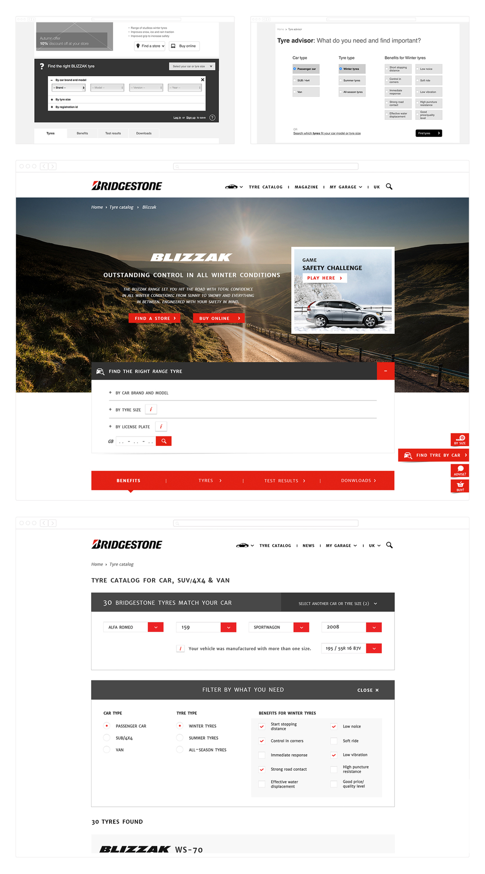 © Wireframes Tyre Search & Tyres Advisor:  These Days  UX team (2014)