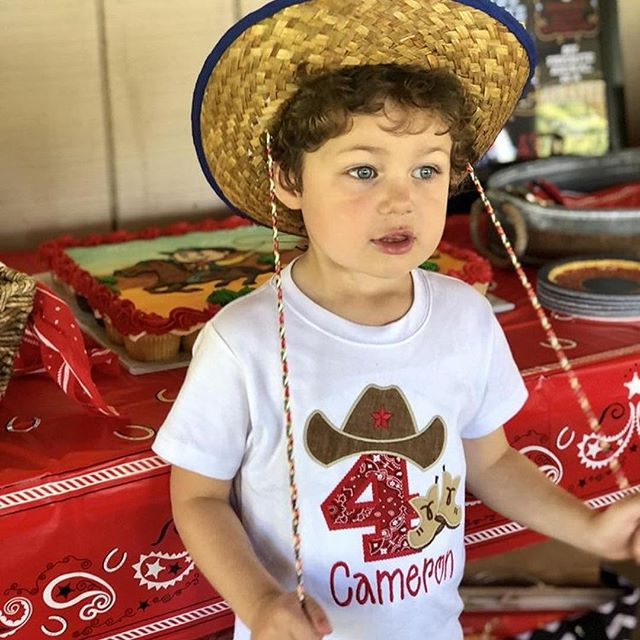 """Wanted for the high crime of growing up too fast,"" this handsome cowboy stole our hearts with an adorable birthday theme. Happy 4th birthday Cameron! May your year be full of yeehaws and giddyup. ❤️🐮👨🏼‍🌾⁣ 📷: @iheartmaui7911⁣ ⁣ •••⁣ #asseenincolumbus #asseeninohio #asseenincbus #614 #cbus #ohio #ohioexplored #columubusohio #ohiohikes #explorecolumbus #delawareohio #powellohio #ohioadventures #614moms #ohiooutside #ohiooutdoors"