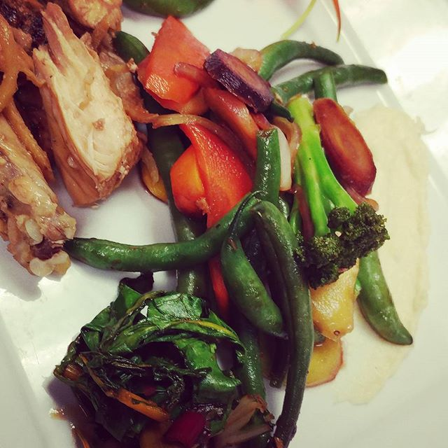 Ginger chicken with summer veggies!