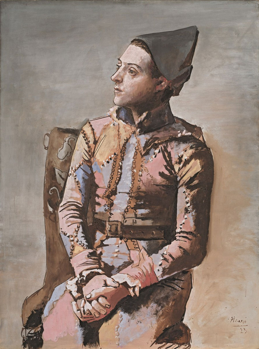 SEATED HARLEQUIN  by Pablo Picasso, 1923  When he doesn't paint people with distorted faces, I really enjoy Picasso. The museum has one of the biggest Picasso collections in the world, if not the biggest - many of these works were gifted to the city of Basel by the artist himself. This painting has a strong appeal - you can almost hear the harlequin breathe. He represents the creative spirit and the personalities traits often attributed to artists, and I found it funny that he reminded me of Buster Keaton.