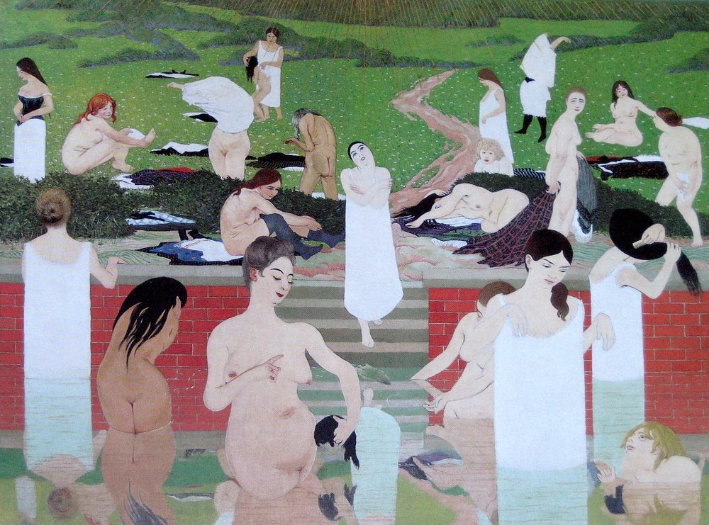 THE BATH, SUMMER EVENING  by Felix Valloton, 1892