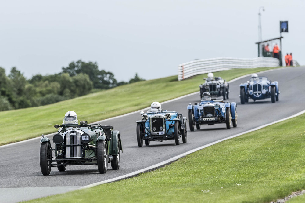 Morland (MG) follows Smith (Delahaye), Reeve (Riley Brooklands), Everett (Austin 7 Ulster) and the Morgan of King:  Peter McFadyen