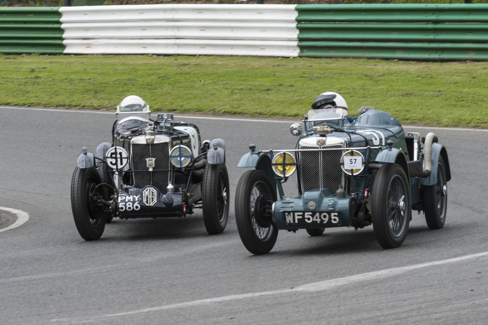 Boothby (MGJ2) hotly pursued by Foster in the MG Q Type:  Peter McFadyen