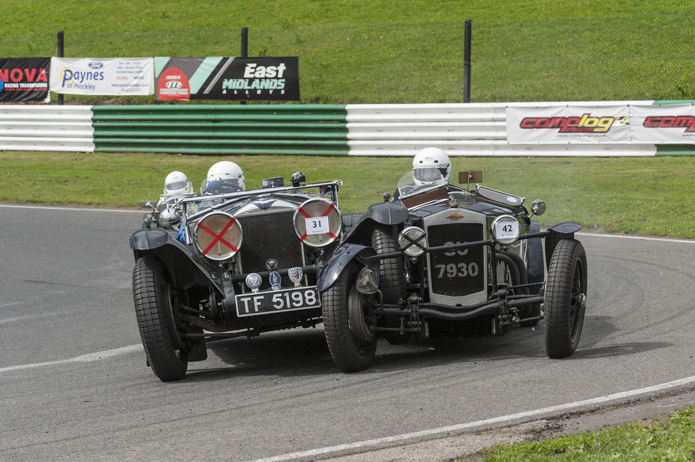 Swete in the Invicta locks wheels with Monro in the Frazer Nash at Shaw's hairpin- thankfully an unusual ODM manoeuvre!  Peter McFadyen
