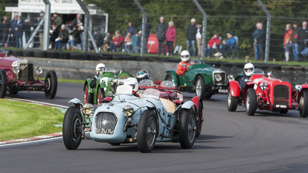 Guyatt in the Talbot Lago heading  the pack before succumbing to engine problems:  Peter McFadyen