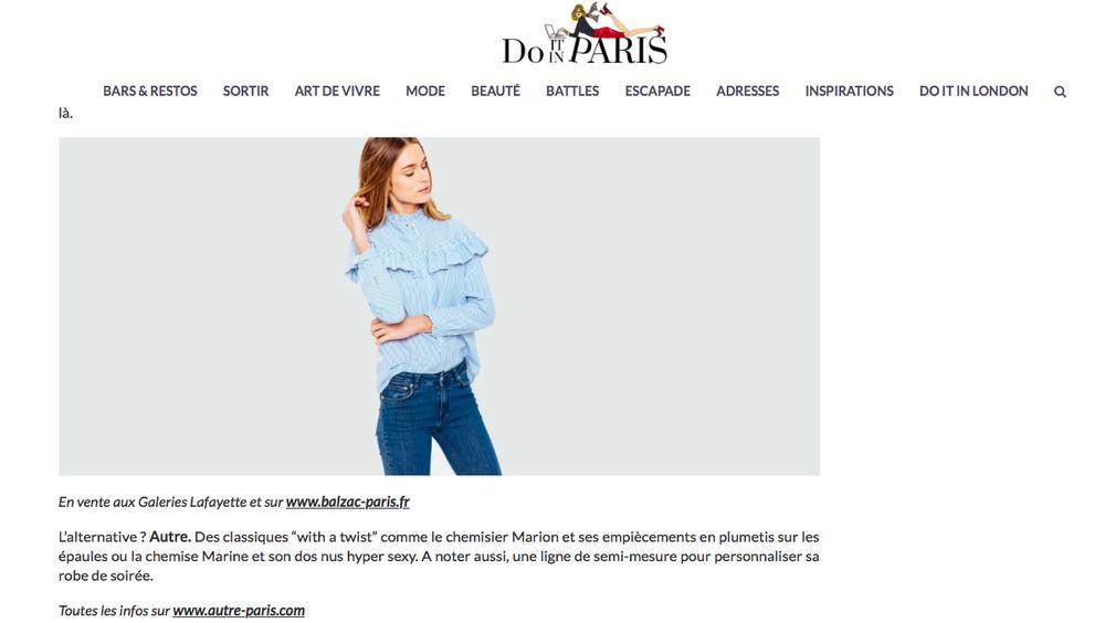 Do it in Paris catalogue  les 14 marques  qui font et vont faire la mode... et autre. y tient une place de choix !