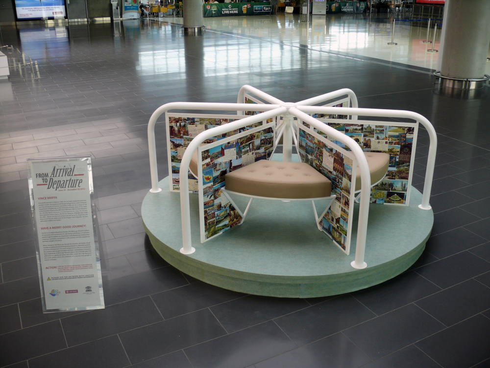 MERRY-GO-ROUND,  interactive sculpture , FROM ARRIVAL TO DEPARTURE exhibition, Larnaca International Airport, Cyprus, 2012