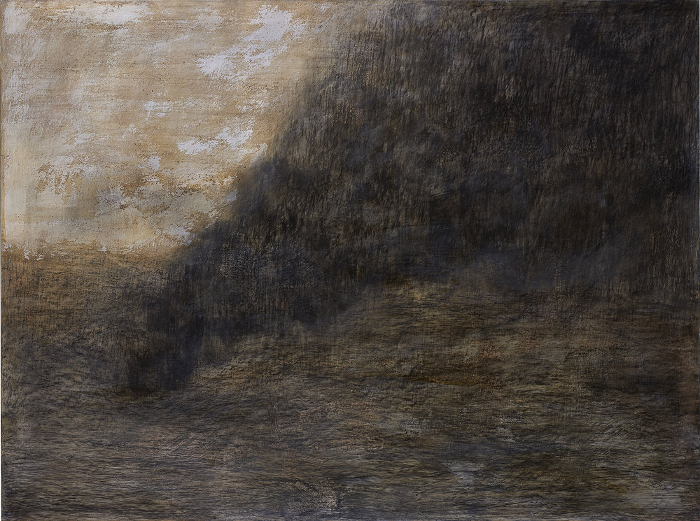 BETWEEN ASH AND DUST series, 915 x 1220 mm,   charcoal and mixed media on prepared wood   , 2010-2011. Collection the artist.