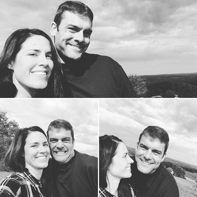 3yrs now and this goof still makes fun of the yearly pic we do at the spot we got married! #weddinganniversary #falllove #funnyhusband #3yrs #feelslike30 #futurehome #happyhealthyactive