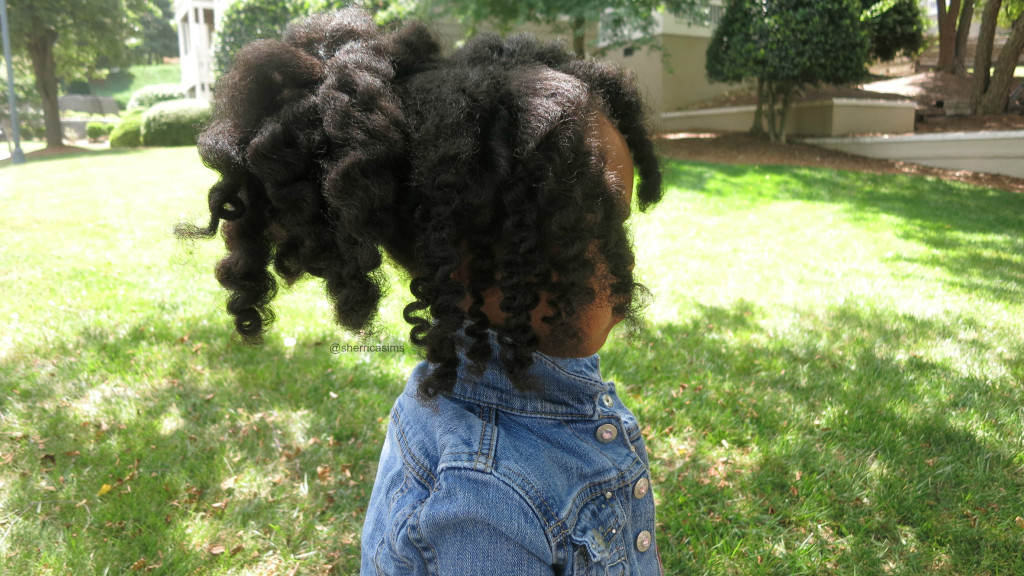 Bantu Knot Out with NYC Curls Products