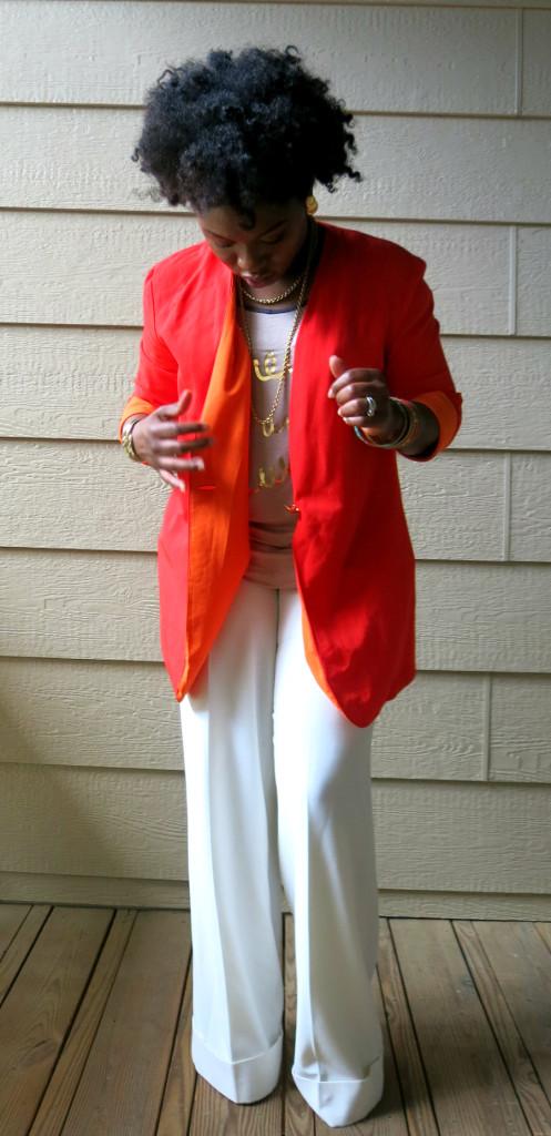 Vintage Orange Blazer