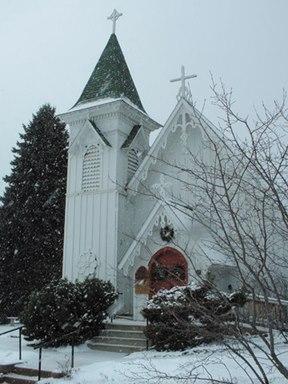 Church in Winter.
