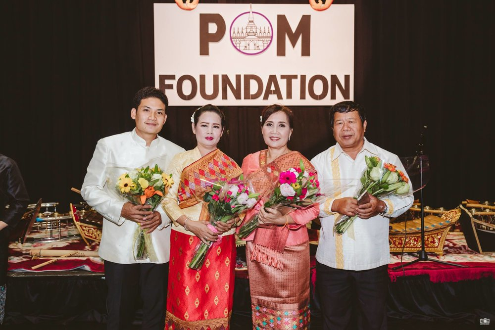 A very special thank you to Ajarn Odai, Ajarn Toun, Ajarn Songsane, and Ajarn Khamsene from the Lao National School of Music & Dance who partook in our 2017 cultural exchange program. Photo by Dennis Sikhanthat.