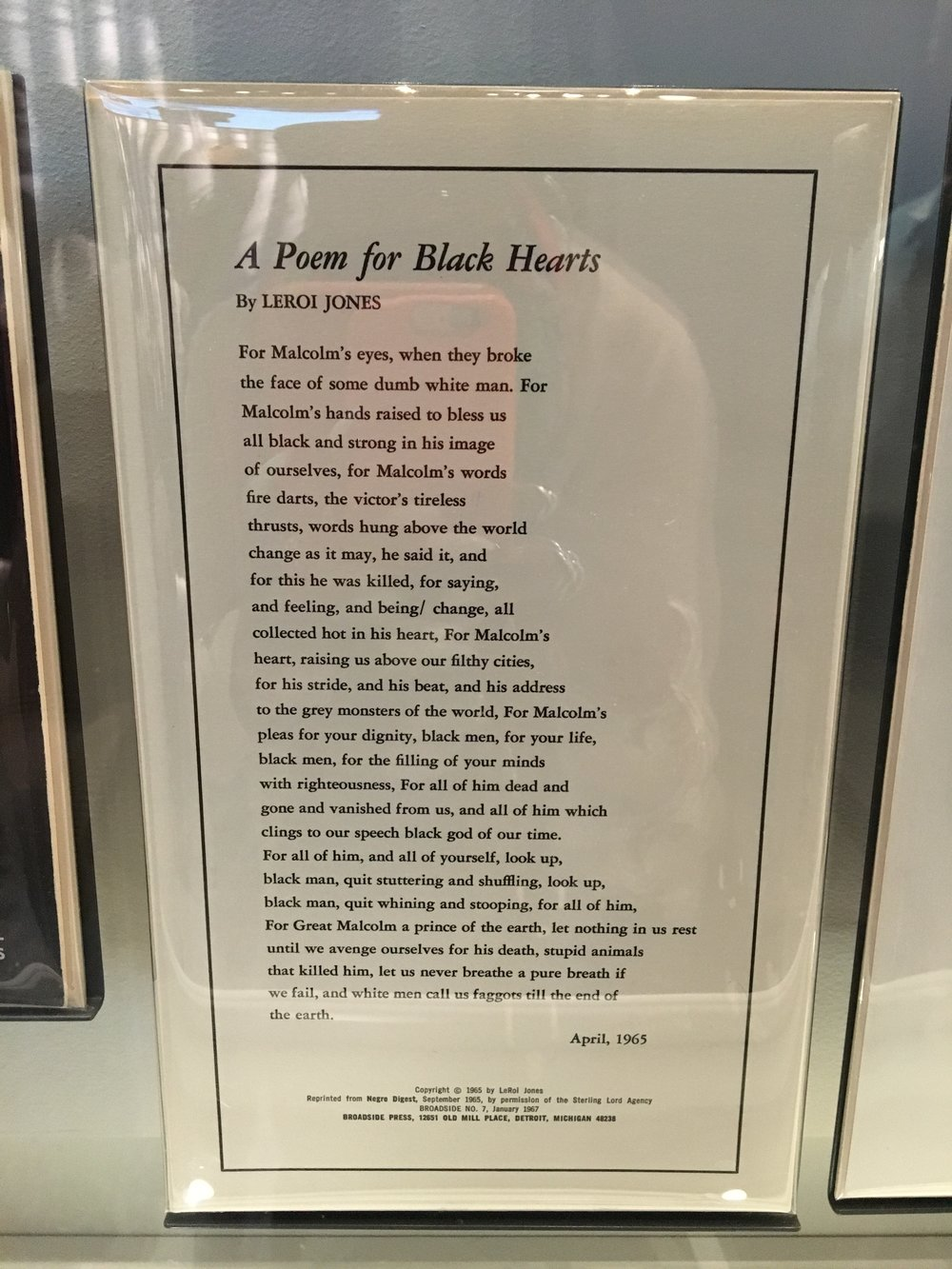 This poem is so relevant!
