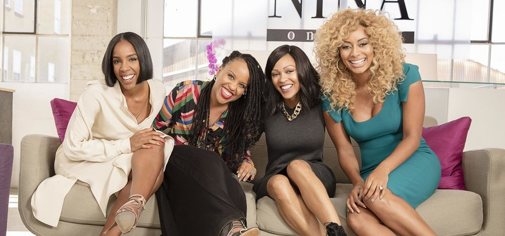 The cast of Love By The 10th Date (Kelly Rowland, Kellee Stewart, Meagan Good, Keri Hilson)